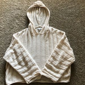 AERIE/AE - Soft, cream, chenille hooded sweater